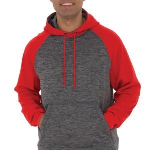 DYNAMIC HEATHER FLEECE TWO TONE HOODED SWEATSHIRT Thumbnail
