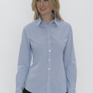 COAL HARBOUR MINI STRIPE WOVEN LADIES' SHIRT Thumbnail
