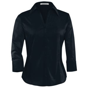 COAL HARBOUR EASY CARE 3/4 SLEEVE WOVEN LADIES' SHIRT Thumbnail
